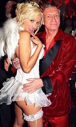 Holly Madison et son ex mari Hugh Hefner président de Playboy magazine